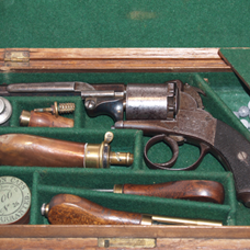 Webley cased percussion revolver