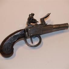 Double-barrelled flintlock pistol by Segalas