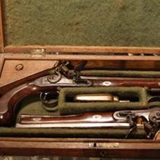 Pair Flintlock duelling pistols by Wallis